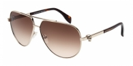 Alexander Mcqueen AM0018S 002 GOLD / HAVANA / BROWN