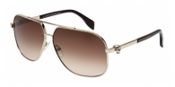 Alexander Mcqueen AM0019S 002 LIGHT GOLD / HAVANA