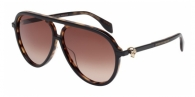 Alexander Mcqueen AM0020S 002 HAVANA / BROWN
