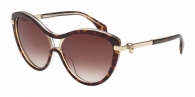 Alexander Mcqueen AM0021S 004 HAVANA / CRYSTAL / BROWN