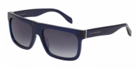 Alexander Mcqueen AM0037S 004 BLUE / SMOKE GRADIENT