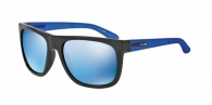 Arnette AN4143 222555 BLACK blue mirror blue