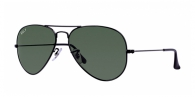 Ray-ban RB3025 002/58 BLACK CRYSTAL GREEN POLARIZED