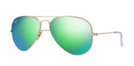 Ray-ban RB3025 112/19 MATTE GOLD GREEN MIRROR