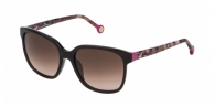 Carolina Herrera SHE687 0G73 PINK AND BEIGE PRINT / BROWN GRADIENT